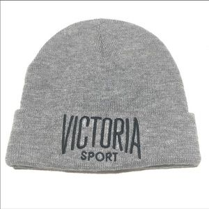 NWT Victoria's Secret Grey Beanie Victoria Sport
